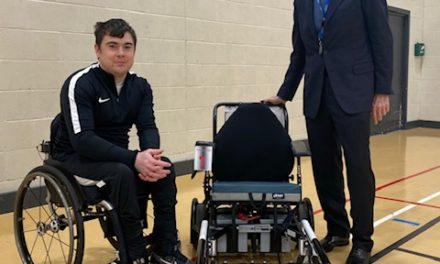 Chair donation for Newcastle Power Chair Football Club