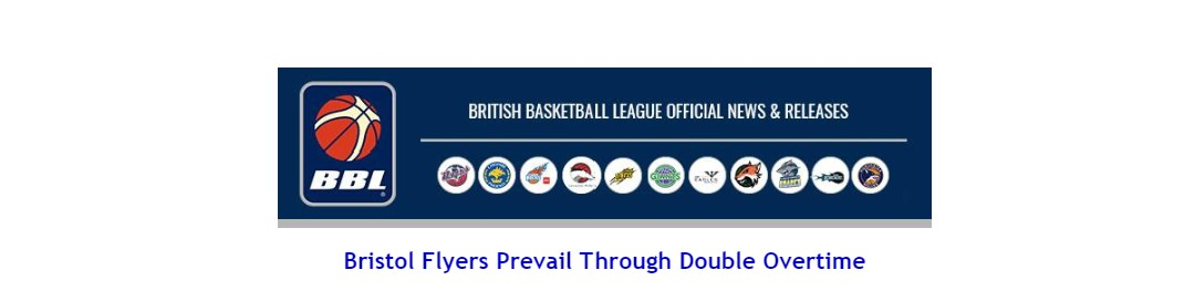 Bristol Flyers Prevail Through Double Overtime