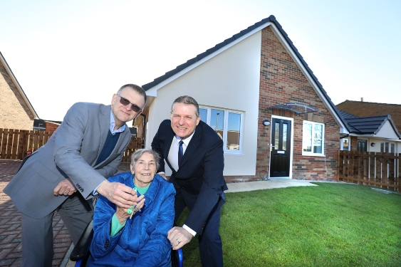 Tenants' joy at new Bernicia homes in Seahouses