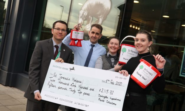 Oh yes they did! Theatre audiences give pounds to hospice during panto season