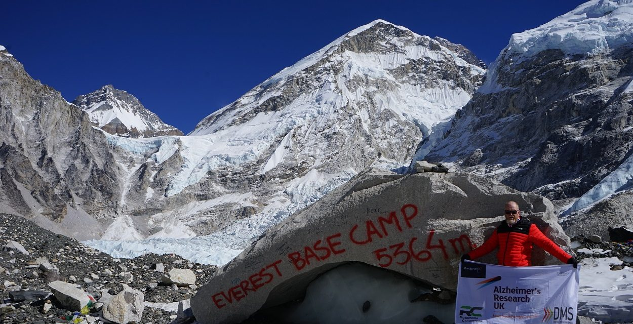 Business consultant Mitchell on target to raise more than £5,000 after 'challenging' Everest charity trek