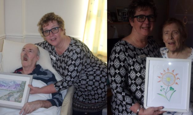 Care home nurse creates artworks for her residents