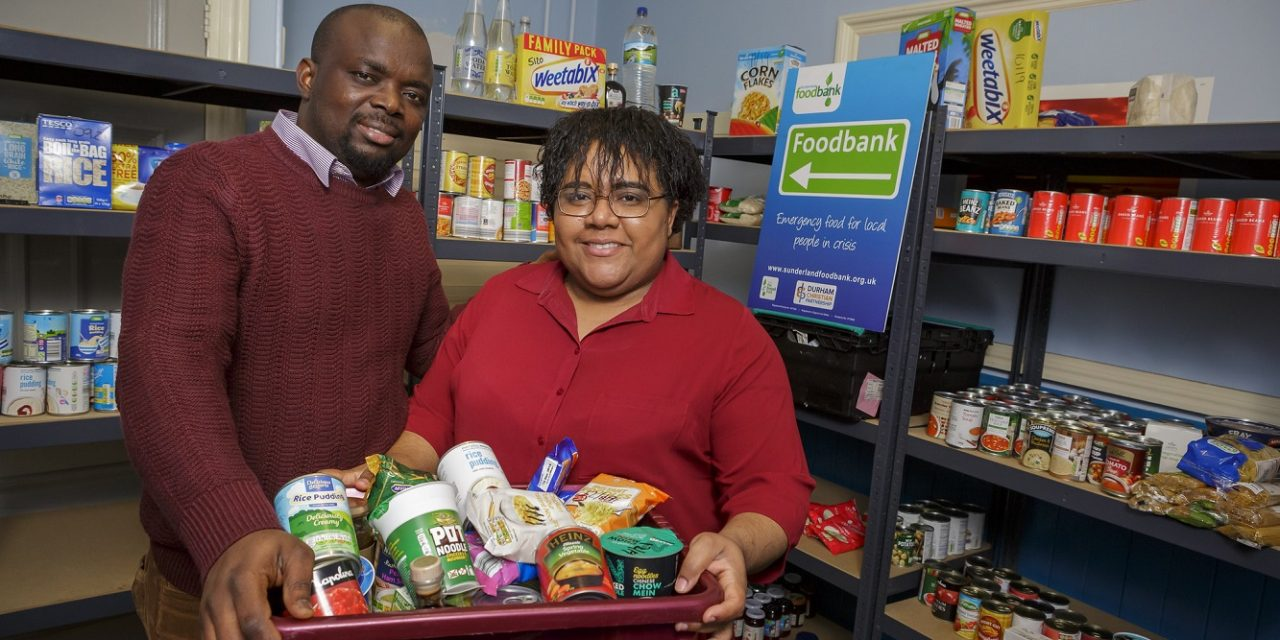 Peter feeds Wearside food bank with community spirit