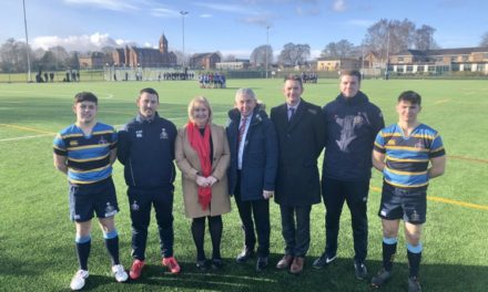 Rugby legend opens Ripon Grammar's new £1m 3G sports pitch