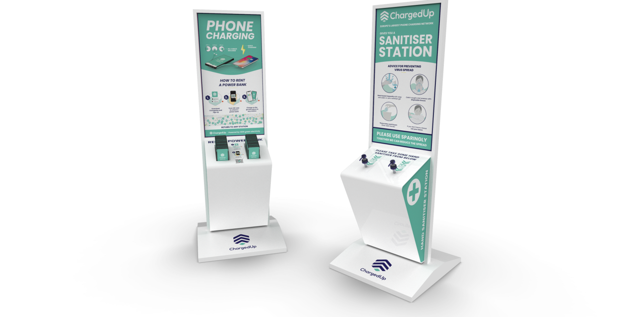 ChargedUp supports the fight against COVID-19 by switching its charging stations to hand sanitiser stations