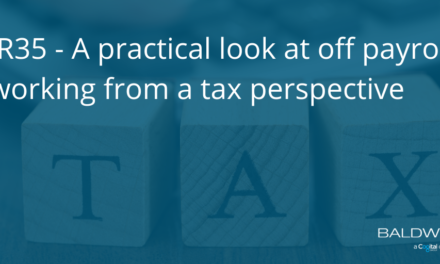 IR35 – A practical look at off payroll working from a tax perspective