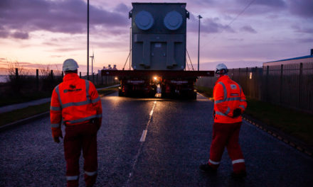 North Sea Link transformers roll out across Cambois