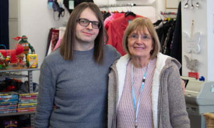 Charity volunteer steps into a new role after 12 years