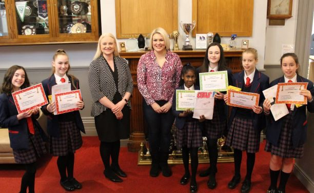 Pupils enter the Dragons' Den
