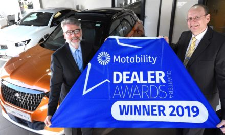 Simon Bailes Peugeot is recognised for Motability excellence