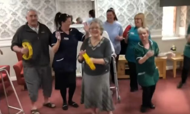 Care home dancing seen by millions on Saturday Night Takeaway