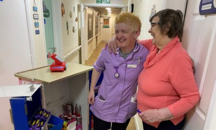 Care home's candy cart brings shopping experience to residents
