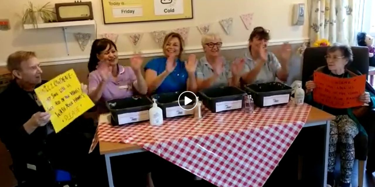 Care home's hand-washing music video