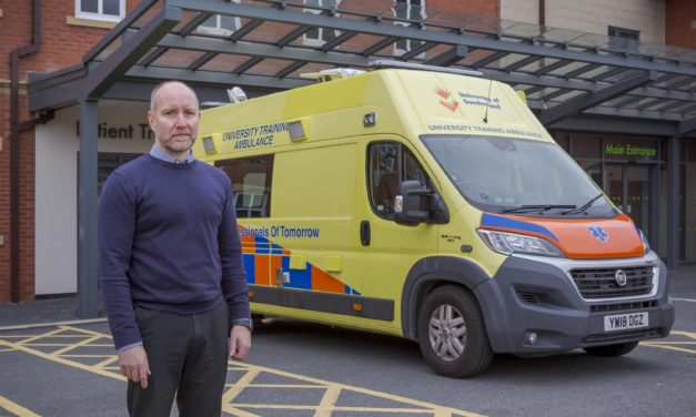 University state-of-the-art training ambulance used in fight against virus