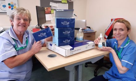 Distance learning students donate unused equipment to healthcare staff