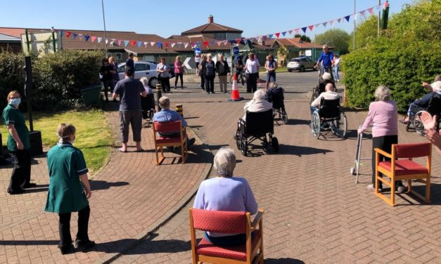 Care home's car park concert brings community together