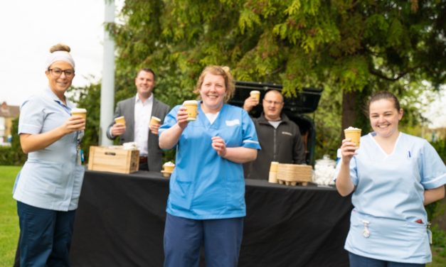 My Property Box opens free outdoor 'café' for Darlington Memorial Hospital's NHS heroes