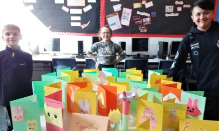 Students deliver Easter cheer