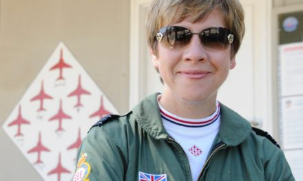 Former Red Arrows Team Manager jets in to meet air cadets