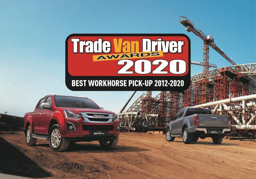 ISUZU D-MAX WINS BEST WORKHORSE PICK-UP AWARD FOR THE 8TH YEAR IN A ROW
