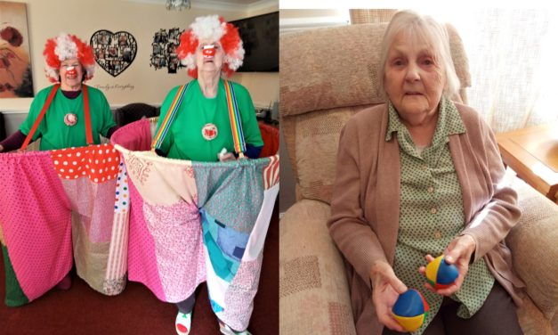 Residents clown around for World Circus Day