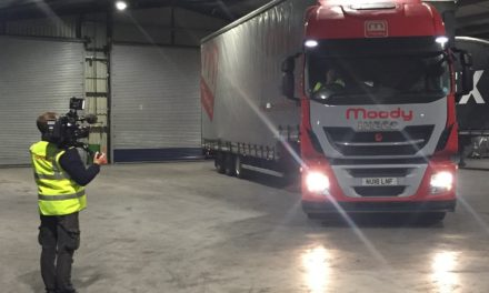 Moody Logistics driver Dave Blench prepares for BBC debut