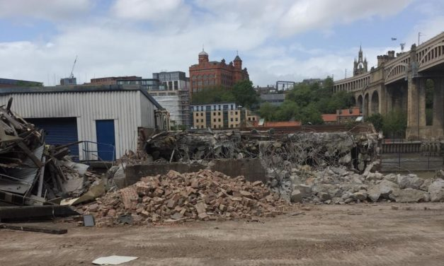 Demolition underway to make way for £41m mixed-used regeneration development on Gateshead riverside