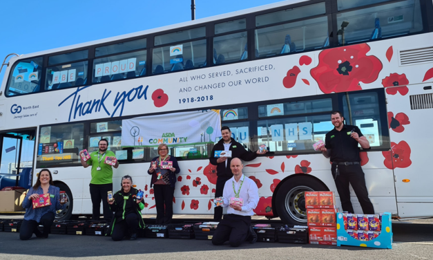 Team members from Go North East's Sunderland depot support local community