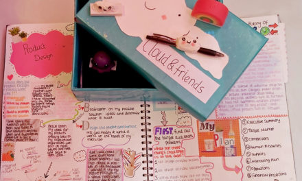 Alicia's head's in the clouds when it comes to stationery design
