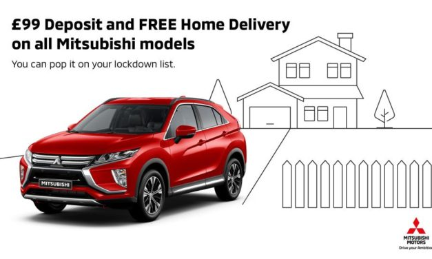 """FREE HOME DELIVERY AND £99 RESERVATIONS FOR MITSUBISHI MOTORS """"BUY ONLINE"""" CUSTOMERS"""