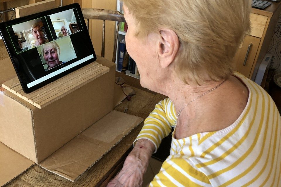 Sadberge's Silver Surfers Keeping In Touch Via New Village Videolink Service