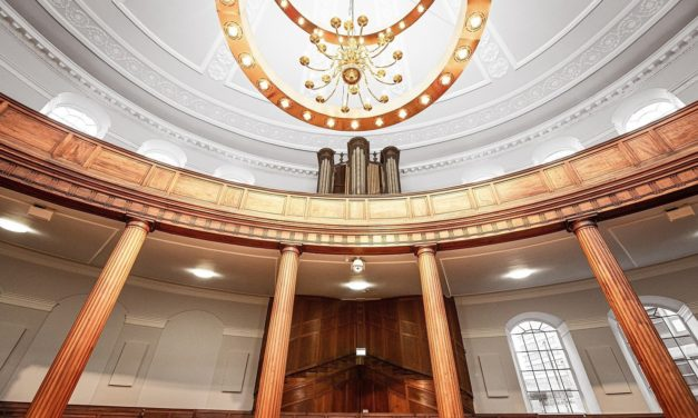 Restoration of England's only elliptical church recognised at regional awards