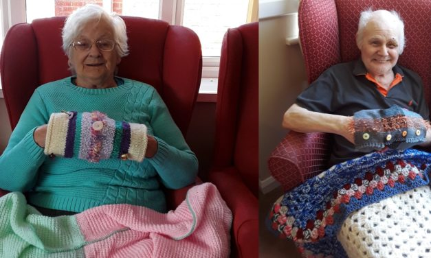 Knit for Peace gifts for Teesside care home