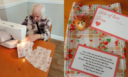 Bags of bear hugs sent out by Saltburn care home residents
