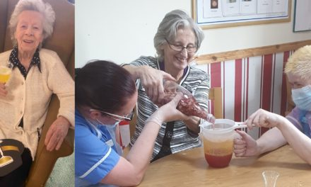 """""""Dancing Ann Gin"""" created by Blyth care home"""