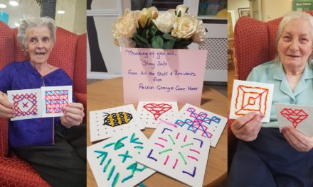 Residents show appreciation for carers with cross stitch