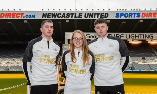 YOUNG APPRENTICES FIND 'PERFECT' ROLE 'TO GIVE BACK' WITH NEWCASTLE UNITED FOUNDATION AND SAGE FOUNDATION