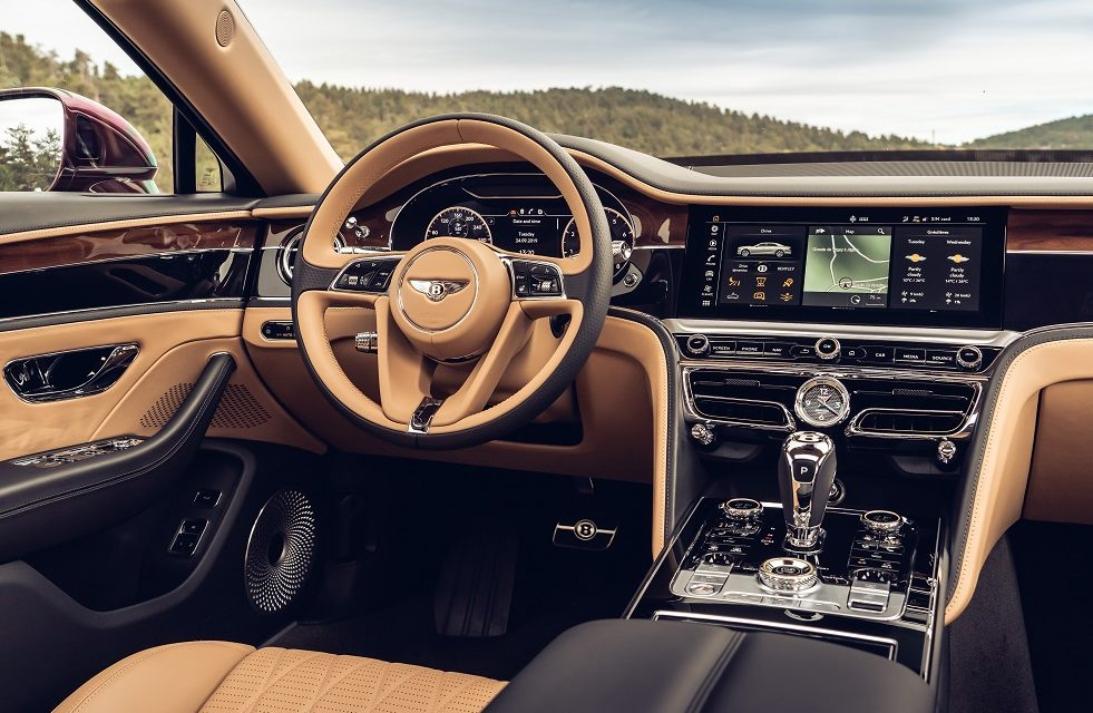 FLYING SPUR IN DETAIL: THE BENTLEY ROTATING DISPLAY