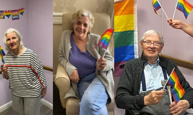 LGBT Pride Inside party at Middlesbrough care home