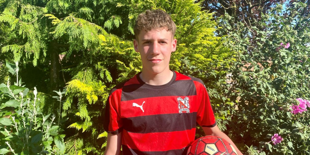 George's work experience leads to coveted place in Darlington Football's Club's Academy team