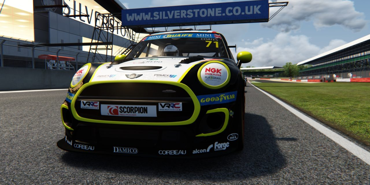 Coates goes racing at Silverstone in the Mini Challenge eSeries