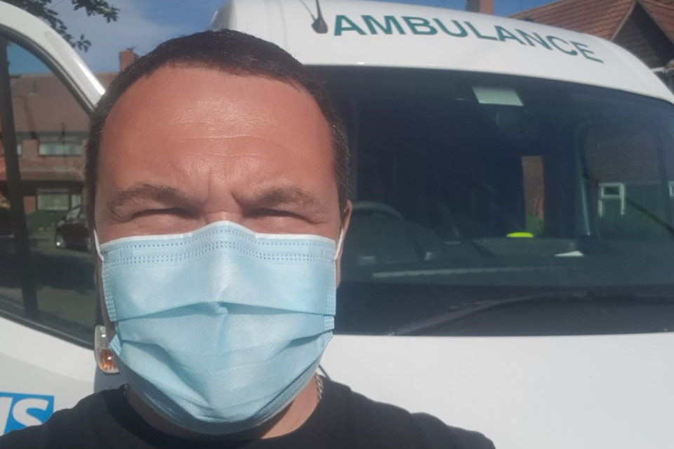 Go North East bus worker steps forward to support the North East Ambulance Service during coronavirus pandemic