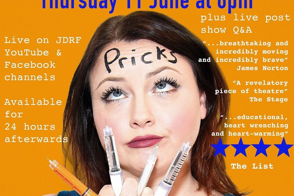 Darlington actress to perform stage show, Pricks, live and in aid of Diabetes charity, JDRF