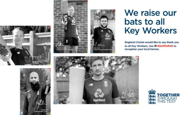 ECB announces #raisethebat Test Series with players wearing key workers' names on shirts
