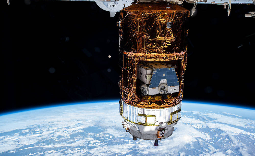 Japan's HTV-9 Cargo Craft Helps Supply the Space Station
