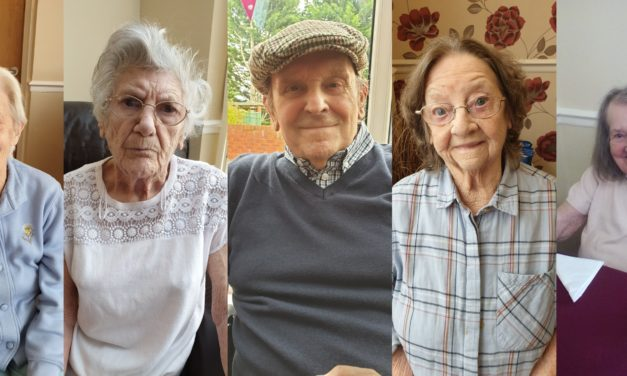 Care home party celebrates 450 years of birthdays