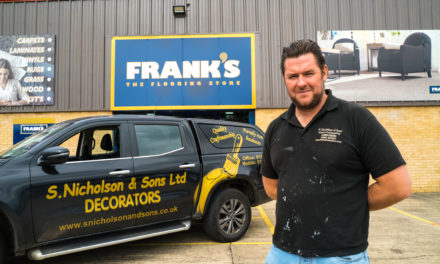 Bishop Auckland decorators give some love to north east's favourite carpet firm