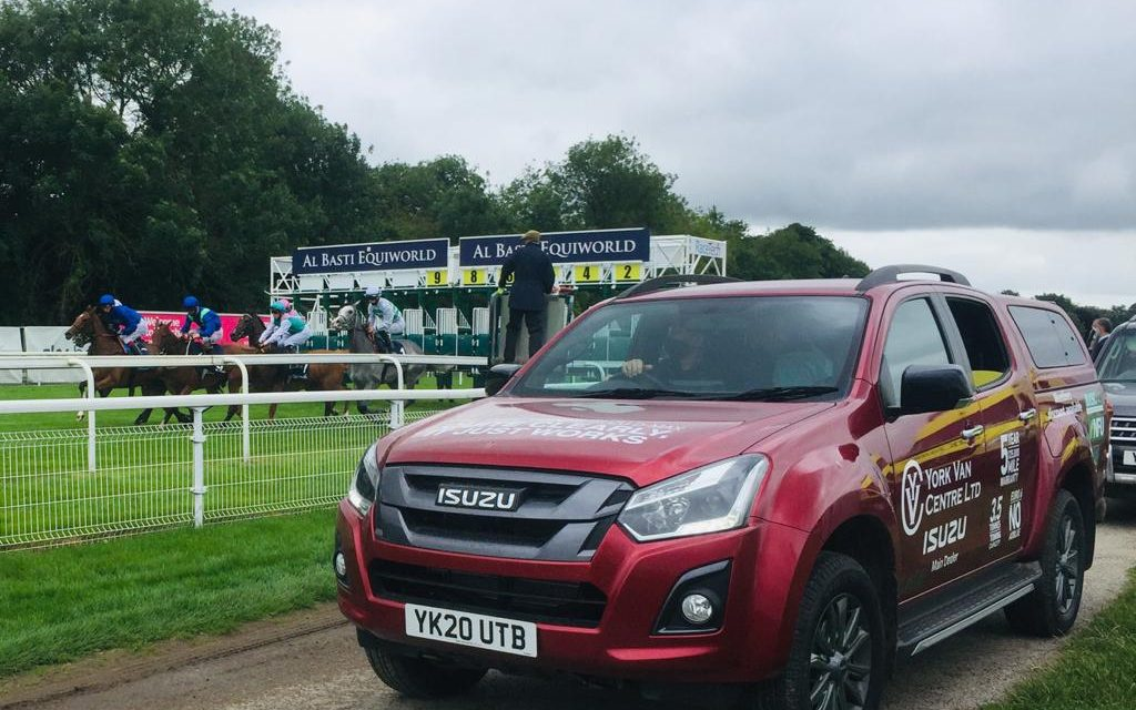 ISUZU D-MAX WORKHORSE IS ODDS-ON FAVOURITE AT YORK RACECOURSE