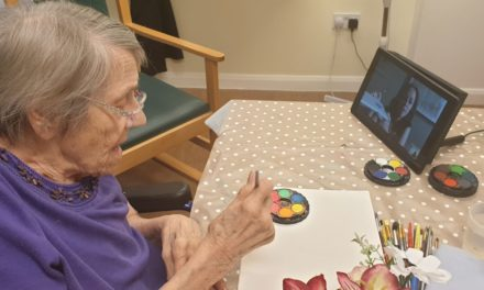 Digital tech brings art sessions back to Blyth care home