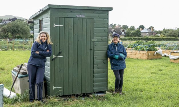 Wooler Community Gardeners Get New Eco-Loo Thanks To Newcastle Building Society Grant
